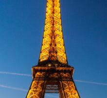 Eiffel Tower and sunset Sticker