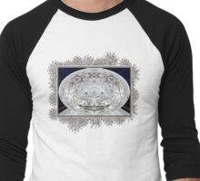 Ice Storm Abstract Men's Baseball ¾ T-Shirt