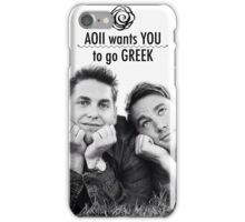 AOII Wants You To Go Greek iPhone Case/Skin