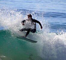 Surfing Culburra by Noel Elliot