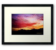 Washboard Sky Framed Print
