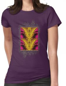 Fuchsia Sensation Abstract Womens Fitted T-Shirt