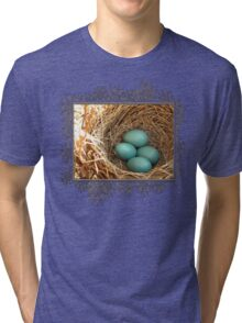 Four American Robin Eggs Tri-blend T-Shirt