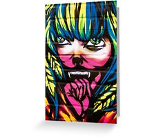 Graffiti Girl Greeting Card