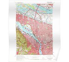 USGS Topo Map Oregon Portland 281133 1961 24000 Poster