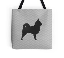 Long Haired Chihuahua Silhouette(s) Tote Bag