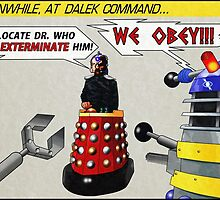 Davros and Dalek Comic Panel by Chris Singley