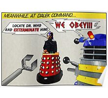 Davros and Dalek Comic Panel Poster
