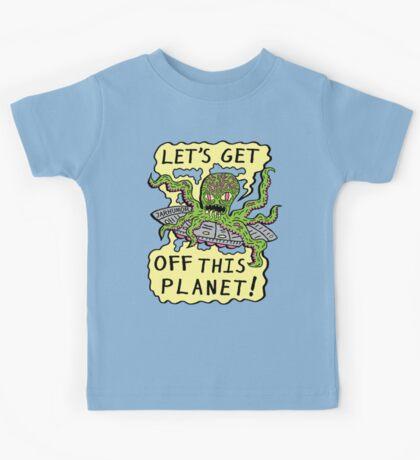 Alien UFO Escape Kids Tee