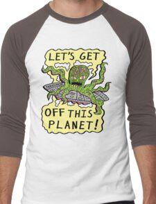 Alien UFO Escape Men's Baseball ¾ T-Shirt