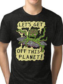 Alien UFO Escape Tri-blend T-Shirt
