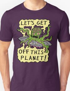 Alien UFO Escape Unisex T-Shirt