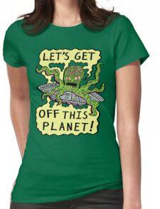 Alien UFO Escape Womens Fitted T-Shirt