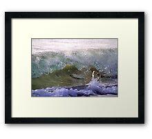 Wave Break #2 Framed Print