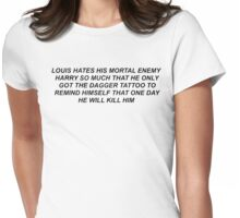 Louis and His Mortal Enemy Harry Womens Fitted T-Shirt