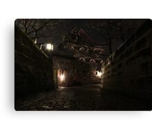 Spring night - Nürnberger Burg Canvas Print