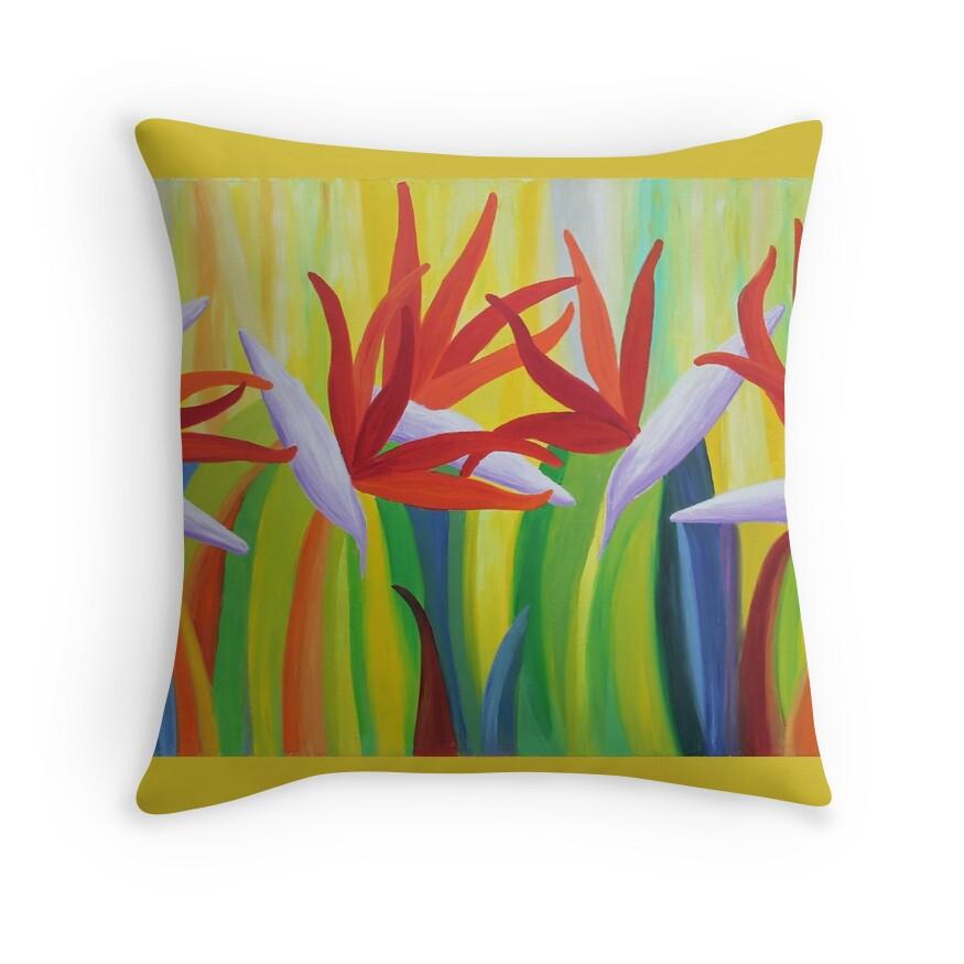 Colorful Bird Throw Pillows :