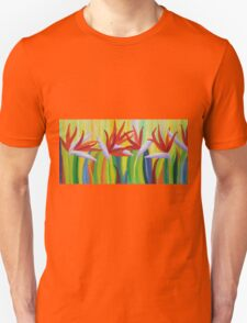 Colorful birds of paradise  T-Shirt