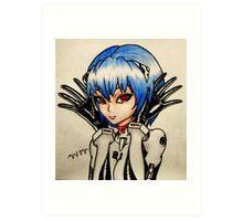 Ayanami Rei Art Print