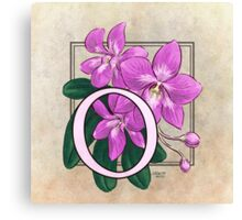 O is for Orchid Canvas Print