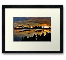 Lake Lights Framed Print