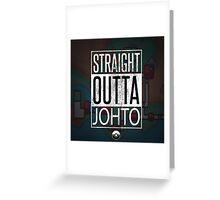 Pokemon - Johto Region Greeting Card