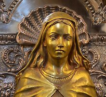Detail from Silver Pedestal of Our Lady of Graces worshipped at Zabbar Parish ( Malta)  by Edwin  Catania