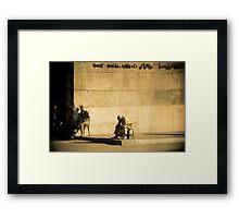 The corner Framed Print