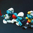 Sporting Smurfs #2 by Bev Pascoe
