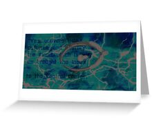 Halo Background Greeting Card