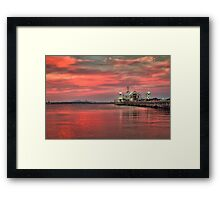Summer Nights, Geelong Waterfront Framed Print