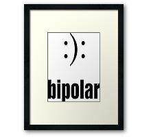 BiPolar  :): funny meme awareness Framed Print