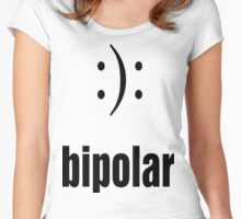 BiPolar  :): funny meme awareness Women's Fitted Scoop T-Shirt