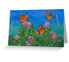 """Bouquet with Butterflies"" Greeting Card"