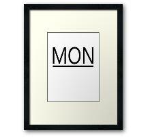 MONster's New Law Framed Print