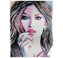 Gisele Bündchen in watercolor painting Poster