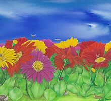 'Little Critters in Gerberas' by Jules Summers