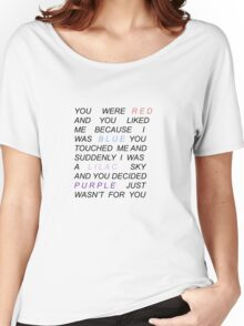 Halsey- 'Colors' quote (black text for sticker) Women's Relaxed Fit T-Shirt