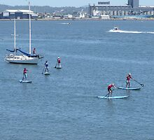 Learning to Paddle Board by Judy Woodman