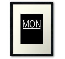 MONster's New Law (White) Framed Print