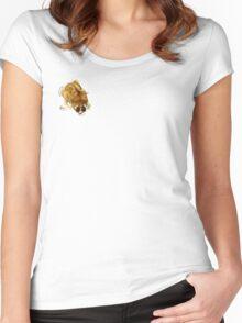 Loris Lemur on my Shoulder Women's Fitted Scoop T-Shirt