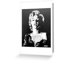 Marilyn Monroe in Graphite Pencil Greeting Card