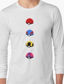 Pokeballs Long Sleeve T-Shirt