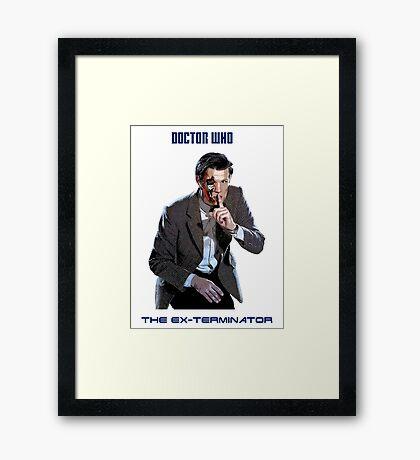 DR WHO - The Ex Terminator Framed Print