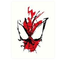 Spiderman Splatter Art Print