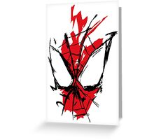 Spiderman Splatter Greeting Card