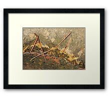 Shoreline and Pine Needles Framed Print