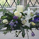 pretty blue floral arrangement by BronReid