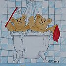 Teddy Bears Bath Time  by Adam Regester