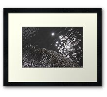 Sun Sparkling On The Water Framed Print